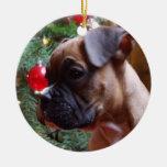 Ornamento del perrito del boxeador del navidad ornamento de navidad