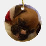 Ornamento del perrito del boxeador del navidad el ornamento de navidad