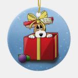 Ornamento del perrito del Corgi del navidad (uno e Adorno De Navidad