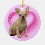 Ornamento del perrito del dogo francés ornamentos de reyes