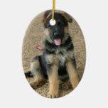 Ornamento del perrito del pastor alemán ornamento para arbol de navidad