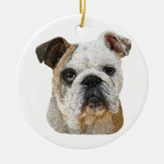 Ornamento del perro de Bull del inglés Adorno Para Reyes