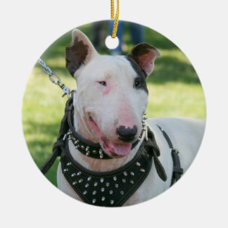 Ornamento del perro de bull terrier ornamento para arbol de navidad