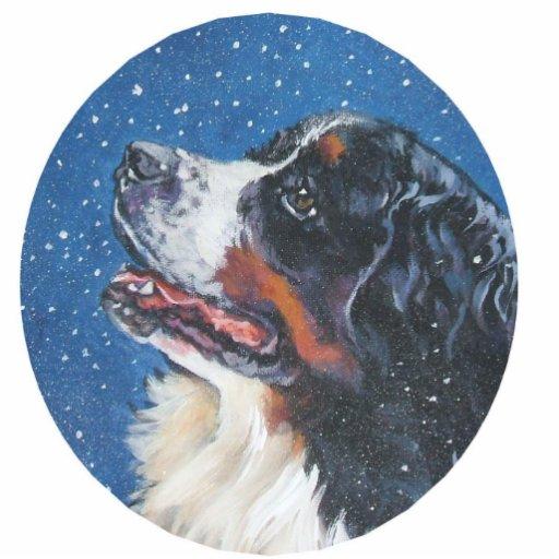 ornamento del perro de montaña bernese adorno fotoescultura