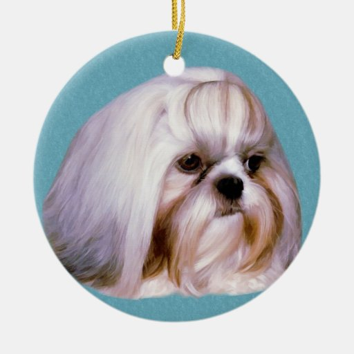 Ornamento del perro de Shih Tzu Ornamentos De Reyes