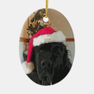 Ornamento del perro de Terranova Ornamento Para Arbol De Navidad