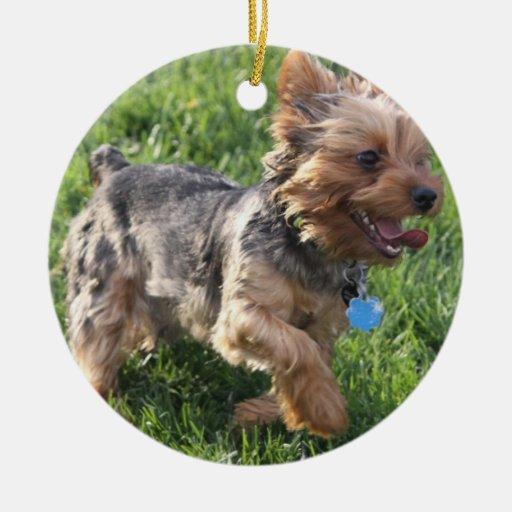 Ornamento del perro de York Terrier Ornaments Para Arbol De Navidad