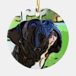 Ornamento del perro del boxeador adorno de reyes
