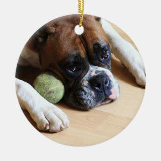 Ornamento del perro del boxeador adorno para reyes