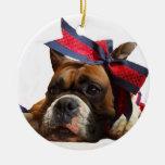 Ornamento del perro del boxeador adornos de navidad