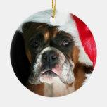 Ornamento del perro del boxeador del navidad ornamentos de reyes magos