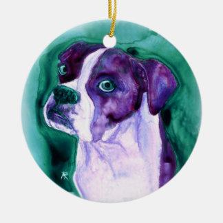 """Ornamento del perro del boxeador - """"no yo """" ornamente de reyes"""