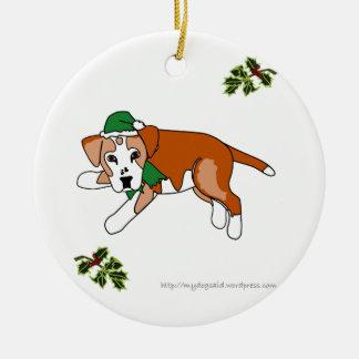 Ornamento del perro del dibujo animado del duende  ornamente de reyes