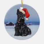 Ornamento del perro del escocés ornamentos de reyes