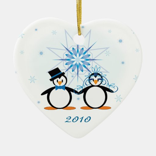 Ornamento del personalizable de los pingüinos del adorno de reyes