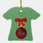 Ornamento del personalizable del día de fiesta del ornamento de navidad