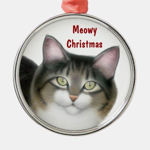 Ornamento del personalizable del gato de Tabby del Ornaments Para Arbol De Navidad