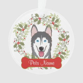 Ornamento del personalizable del husky siberiano