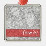 Ornamento del personalizado de la foto de familia ornamentos de reyes