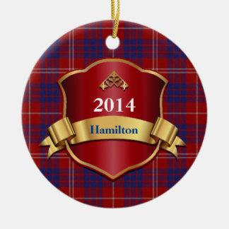 Ornamento del personalizado de la tela escocesa de adornos de navidad