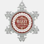 Ornamento del personalizado de las Felices Navidad