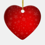 Ornamento del personalizado de las Felices Navidad Adorno Navideño De Cerámica En Forma De Corazón