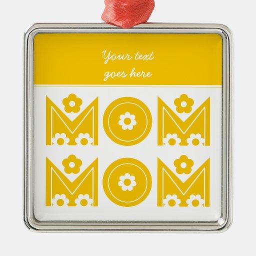 Ornamento del personalizado del día de madre de la ornamentos de navidad