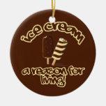 Ornamento del personalizado del helado adorno de navidad