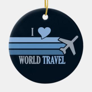 Ornamento del personalizado del World Travel Adorno Navideño Redondo De Cerámica