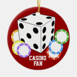 Ornamento del póker del amor de la fan del casino adorno para reyes