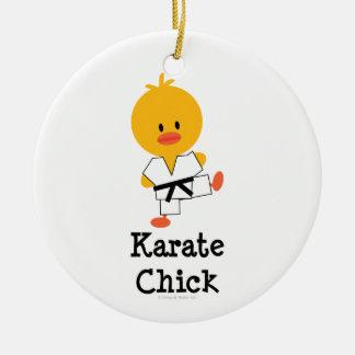 Ornamento del polluelo del karate ornamento para arbol de navidad