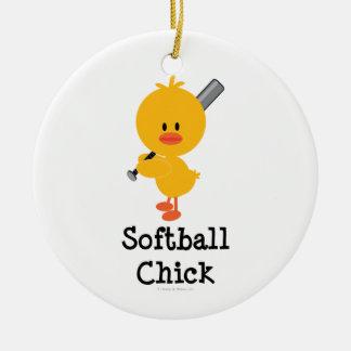 Ornamento del polluelo del softball ornatos