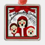 Ornamento del premio de los Carolers del navidad Ornamento De Reyes Magos