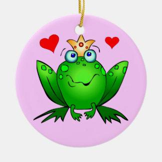 Ornamento del príncipe princesa Happy Cartoon Adorno Navideño Redondo De Cerámica