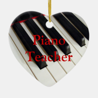 Ornamento del profesor de piano ornamentos de reyes magos