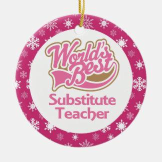 Ornamento del profesor sustituto ornamento de navidad