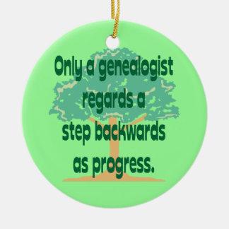 Ornamento del progreso de la genealogía adorno redondo de cerámica