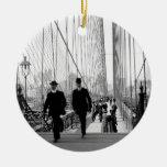 Ornamento del puente de Brooklyn 1905 Ornamentos De Navidad
