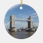 Ornamento del puente de la torre ornamento para arbol de navidad