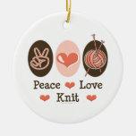 Ornamento del punto del amor de la paz ornamentos para reyes magos