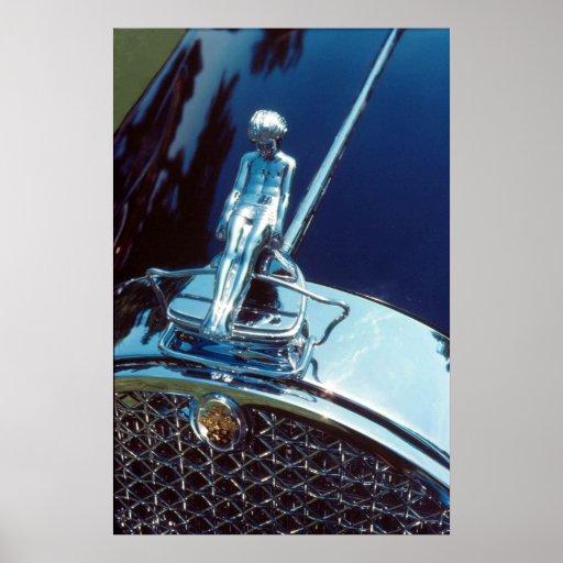 Ornamento del radiador de Packard Adonis Póster