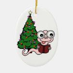 Ornamento del ratón de biblioteca del navidad ornamento de reyes magos