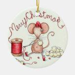 Ornamento del ratón de las palomitas ornamento para reyes magos
