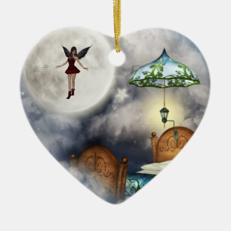 Ornamento del ratoncito Pérez Adorno Navideño De Cerámica En Forma De Corazón