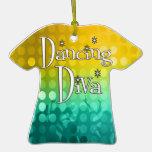 Ornamento del recuerdo de la diva del baile adorno para reyes