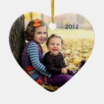 Ornamento del recuerdo de la foto adornos de navidad