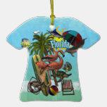 Ornamento del recuerdo de las vacaciones de la Flo Ornamento Para Arbol De Navidad