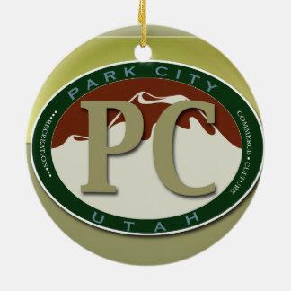 Ornamento del recuerdo de Park City Adorno De Navidad