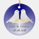 Ornamento del recuerdo del boda adornos de navidad