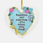 Ornamento del recuerdo del corazón dos de la amist ornamentos de reyes magos